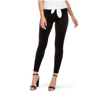 Spanx High Rise Velvet Black Leggings Medium